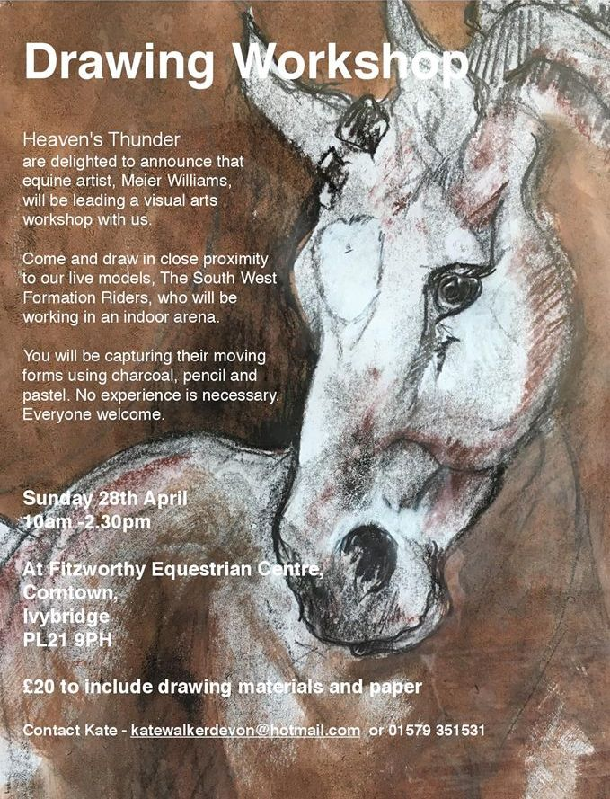 Drawing Worshop at Fitzworthy Equestrian Centre, Dartmoor